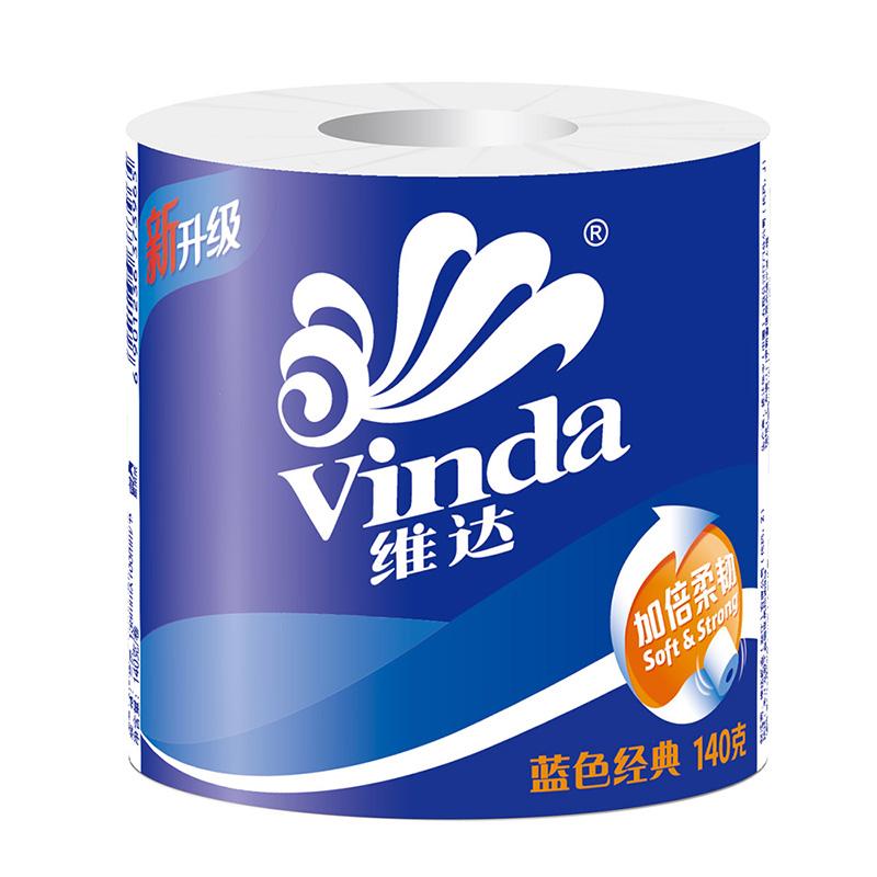 维达蓝色经典140g卷纸1提