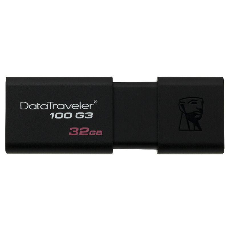 金士顿(Kingston) DT 100G3 32GB USB3.0 U盘 黑色