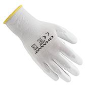 翰辉PE300 13针白尼龙掌浸白PU手套