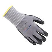 莱卡芯掌浸黑色丁腈超细发泡手套