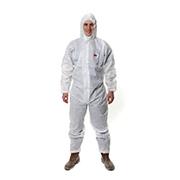 3M 4515 白色带帽连体防护服