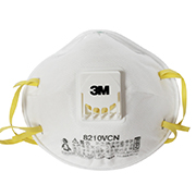 3M 8210V N95带呼吸阀防颗粒物防尘口罩