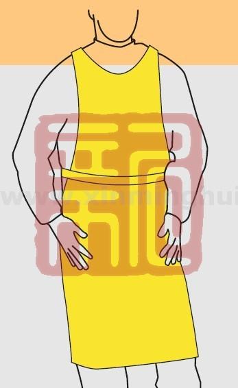 微护佳 YE30-W-99-213-00 MC3000黄色围裙(腰部系带)封面