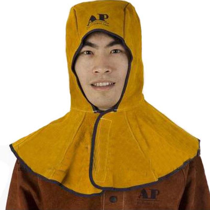 友盟AP-3000Y金黄色皮全护式焊帽 39CM高 周长50CM