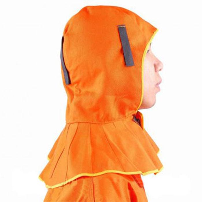 友盟AP-6690橙色阻燃布全护式焊帽