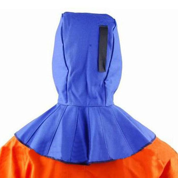 友盟AP-6680蓝色阻燃布焊帽(39cm)