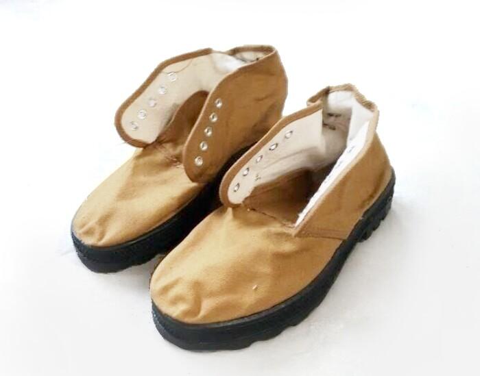 天津双安高帮耐油鞋(黄色)-45
