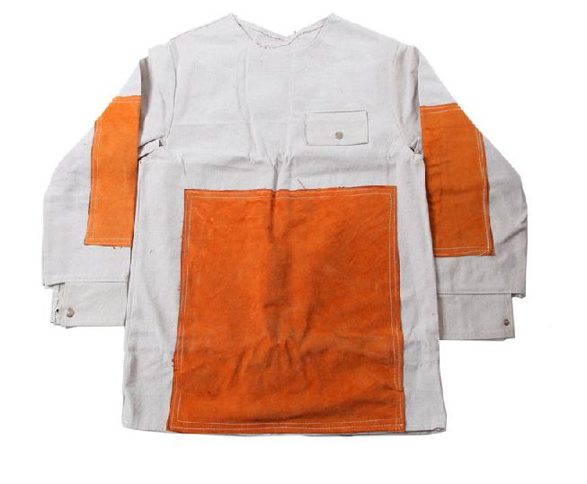 帆布加皮电焊服