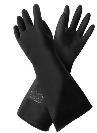 威蝶耐酸碱手套-50cm黑