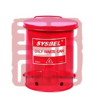 西斯贝尔 WA8109300 防火垃圾桶 10G/37.8L/红色封面