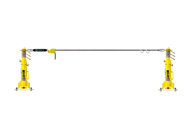 霍尼韦尔HLLR2-Z7/60FT 18米临时绳索水平生命线系统