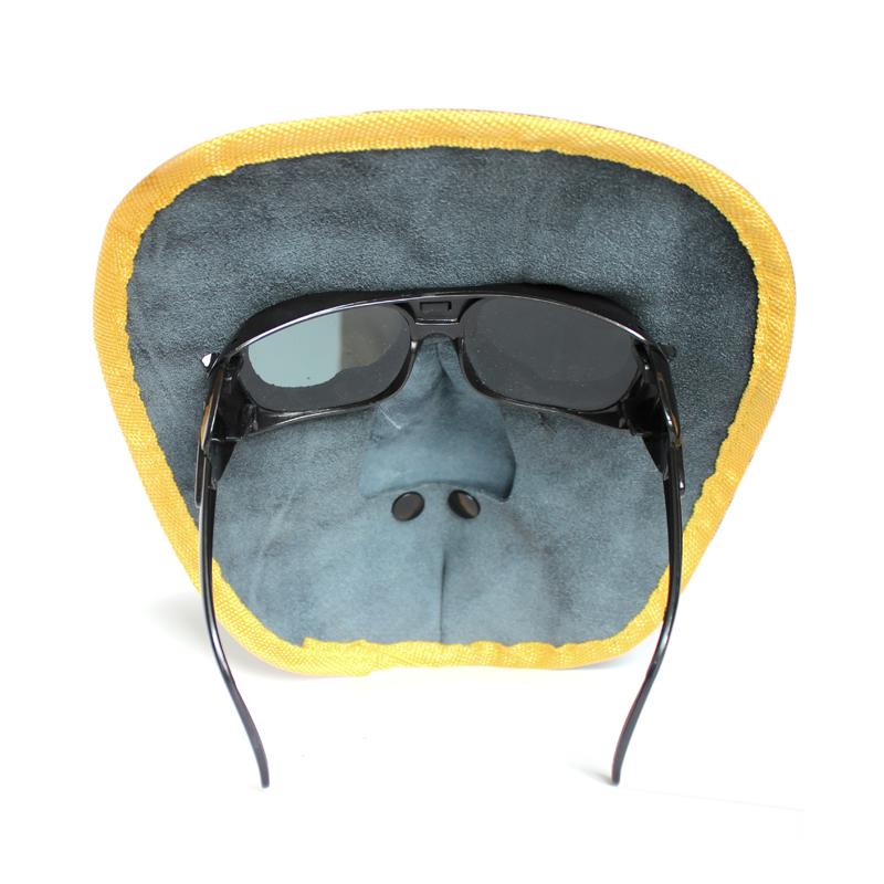 牛皮电焊面罩(配眼镜)