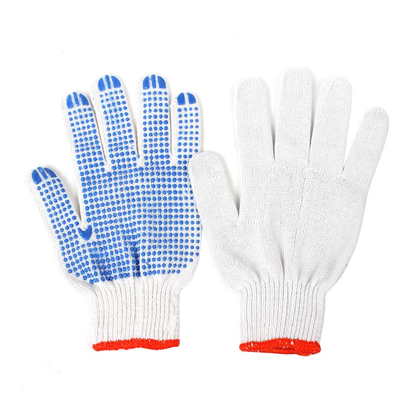 SAFEMAN君御 7100D线点塑手套(蓝点塑)