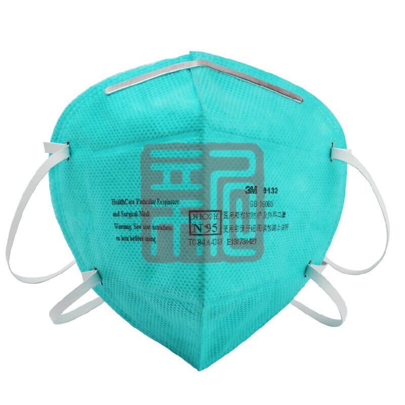 3M 9132 折叠式头戴医用防护口罩封面