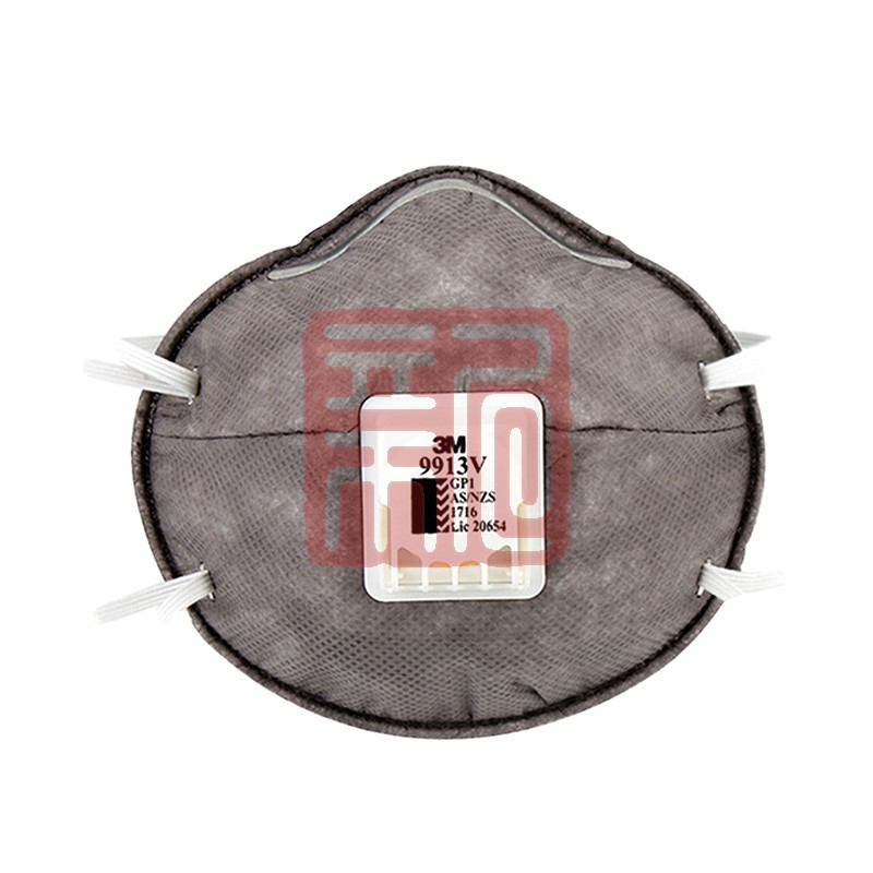 3M 9913V KN90/GP1 带呼吸阀防颗粒物活性炭防尘口罩封面