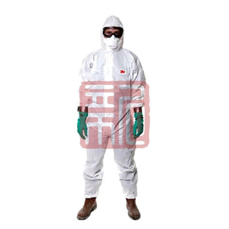 3M 4515 白色带帽连体防护服L封面
