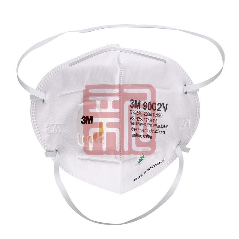 3M 9002V 折叠头戴式带呼吸阀防尘口罩(环保包装)封面