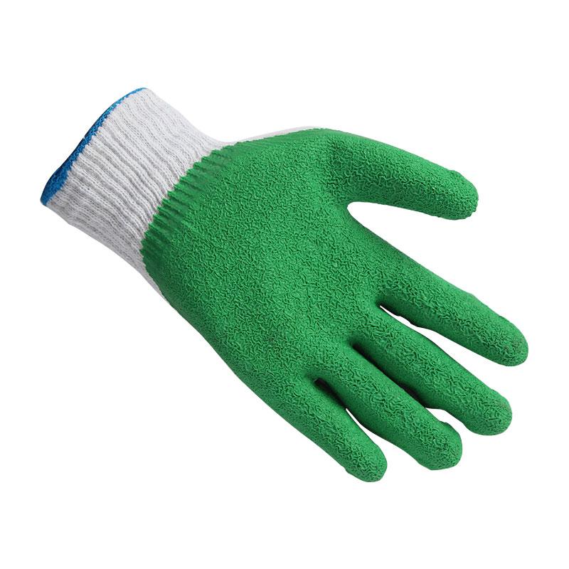 星宇L207纱线皱纹手套白纱绿