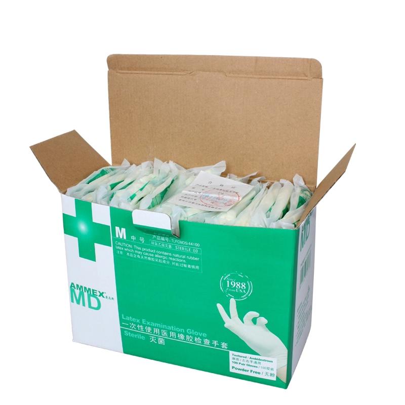 AMMEX爱马斯TLFCMDSi一次性使用医用橡胶检查手套 灭菌 带翻边 变更后为TLFCMDS)