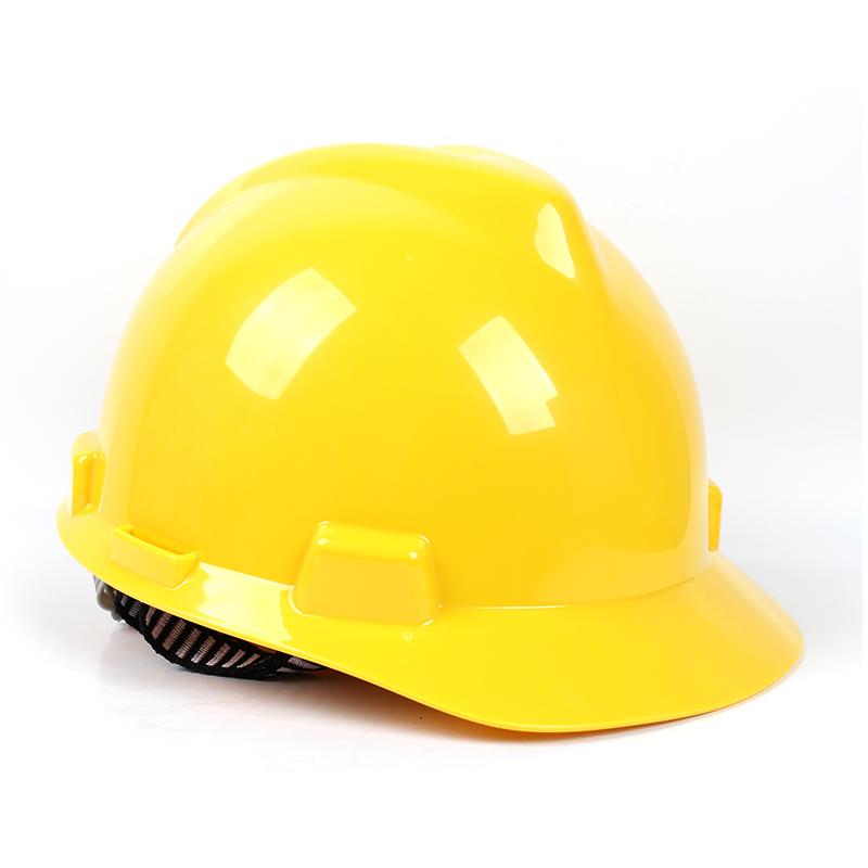 梅思安 9121318 标准型ABS白色安全帽易拉宝帽衬针织布吸汗带D型下颌带