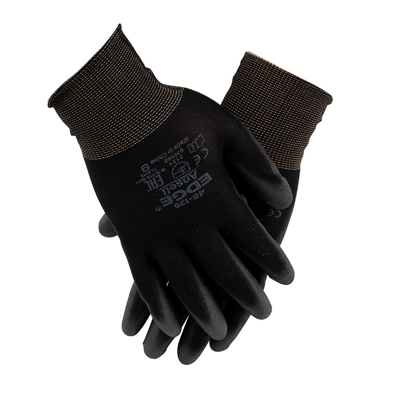 安思尔Ansell 48126 涤纶PU掌部涂层黑色手套