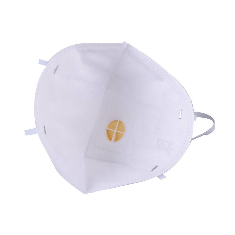 3M 9001V 折叠耳戴式带呼吸阀防尘口罩(精装)