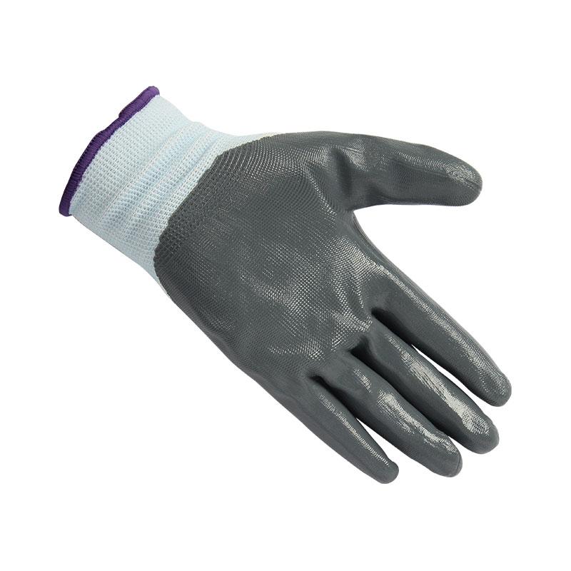 星宇 N518尼龙丁腈手套(白纱灰)