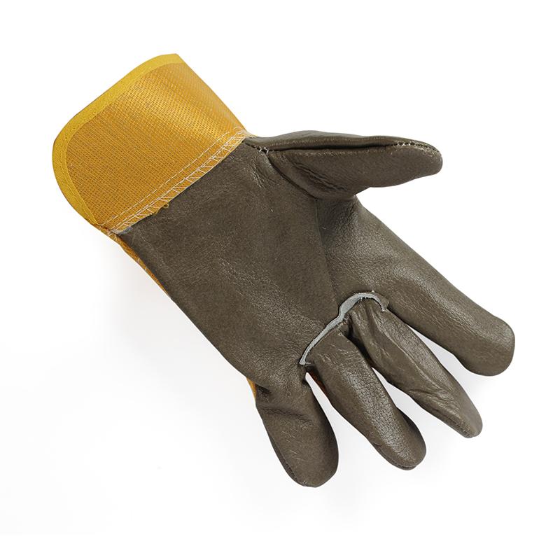 黄布一层分掌手套 深色