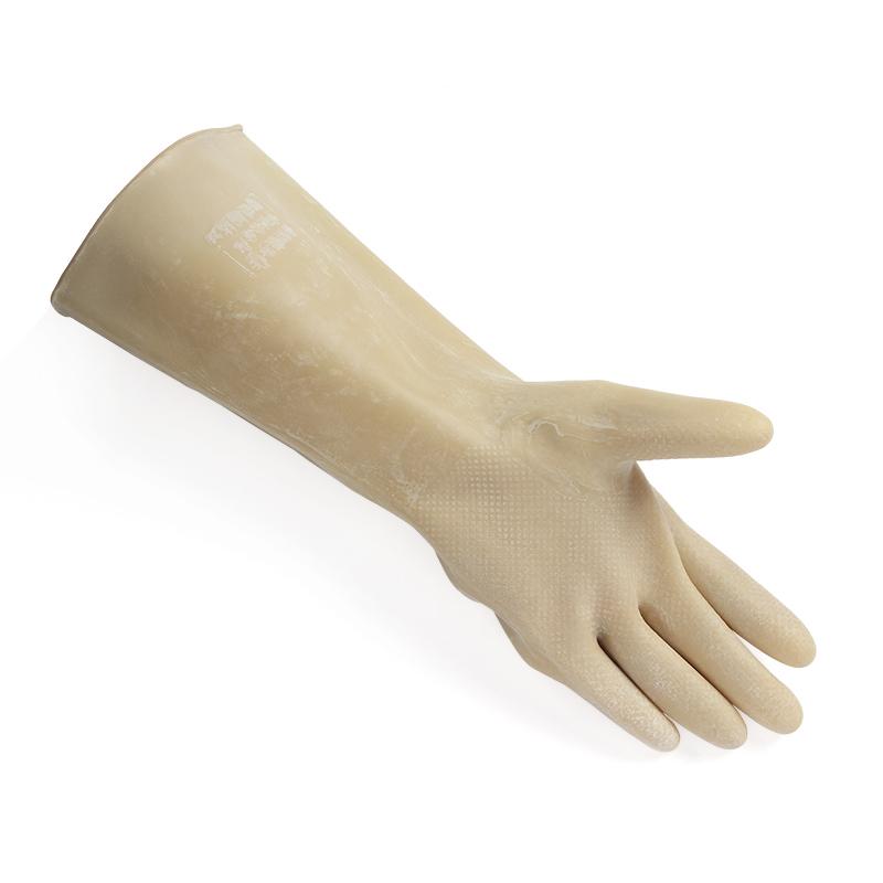 腾达 乳胶耐酸碱手套 40CM 白