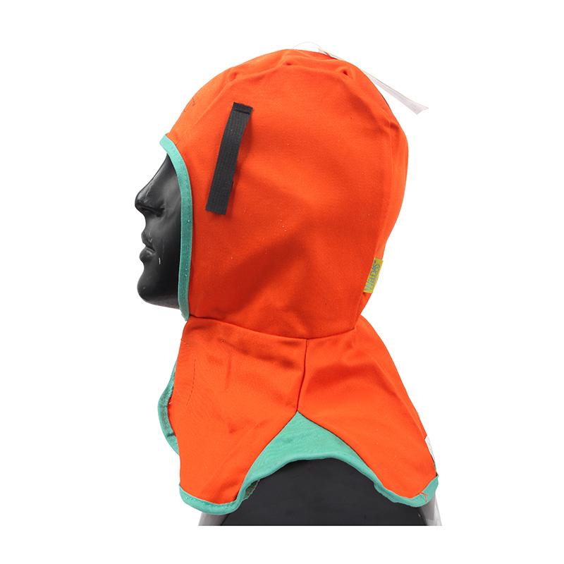 威特仕23-6690橙色全护式防火阻燃焊帽