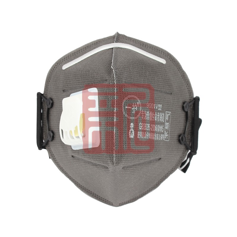 一护9001V型折叠耳戴式带阀防尘口罩封面