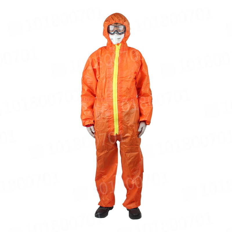 3M 4690橙色高级带帽连体防化服M封面