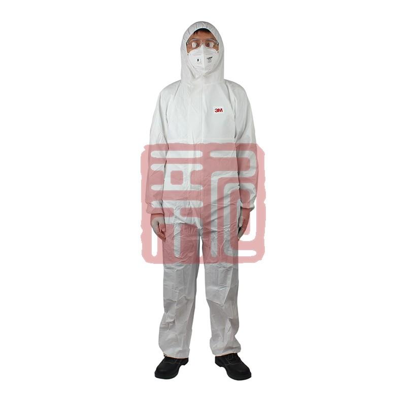 3M 4510白色带帽连体防护服L封面