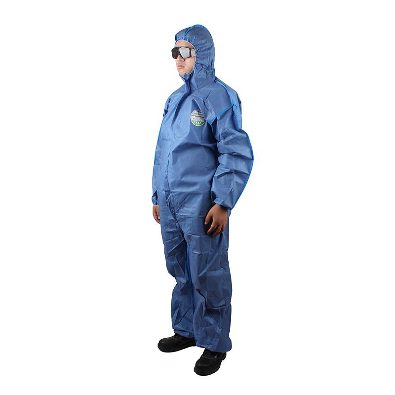 雷克兰 SMMS428BE 赛服佳带帽连体衣(蓝色)S