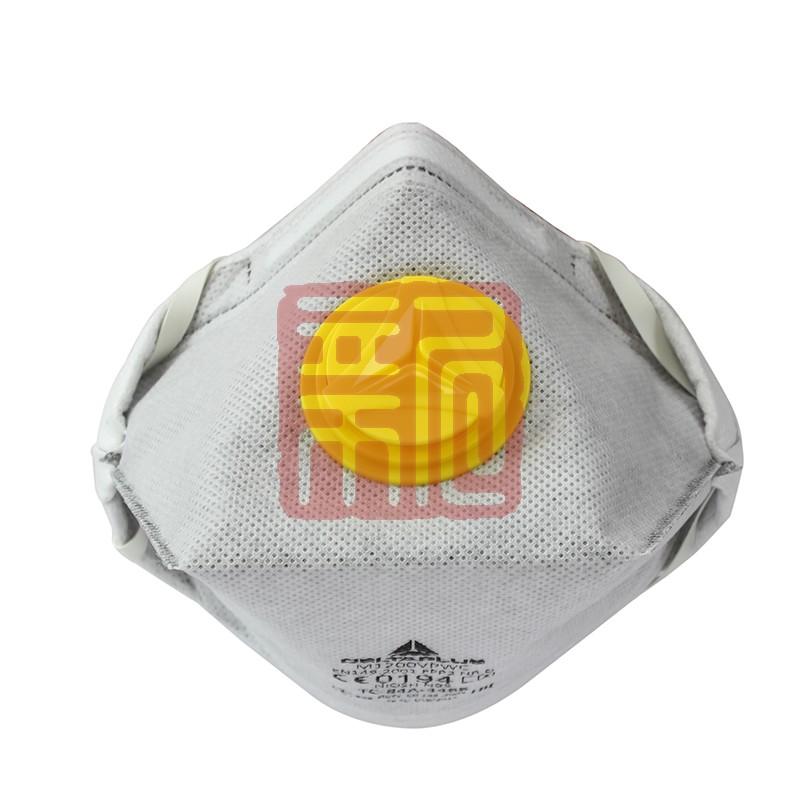 代尔塔 104104  M1200VPWC   P2活性炭鸭嘴带呼吸阀防尘口罩封面