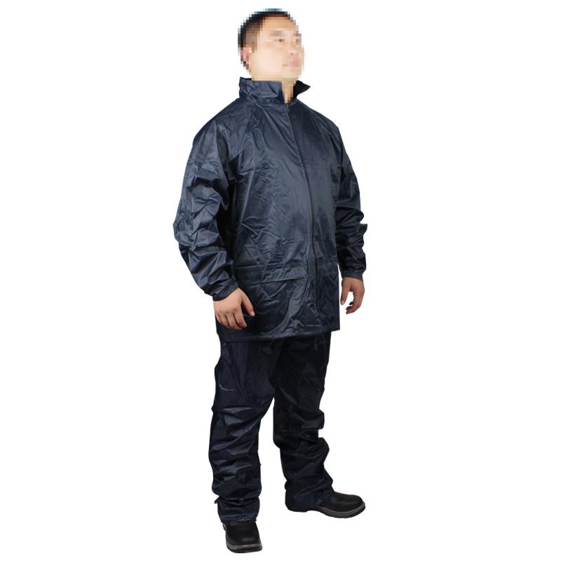 代尔塔407003 EN400分体雨衣 藏青色