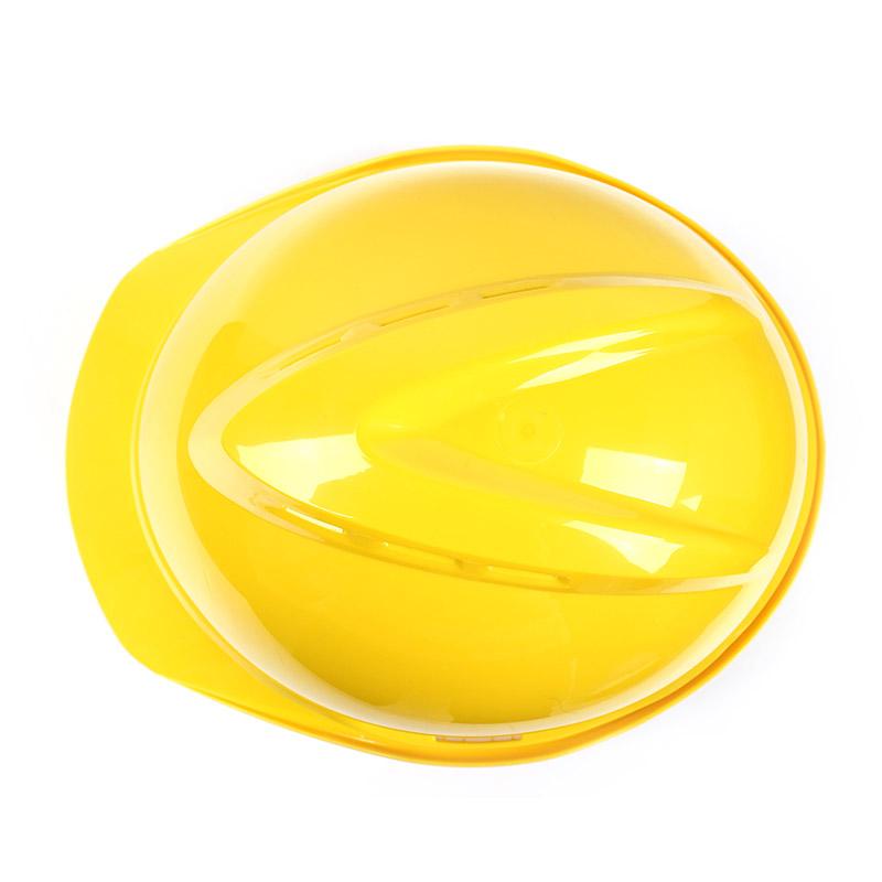 梅思安 10108994 豪华ABS黄色安全帽轻旋风帽衬针织布吸汗带D型下颌带