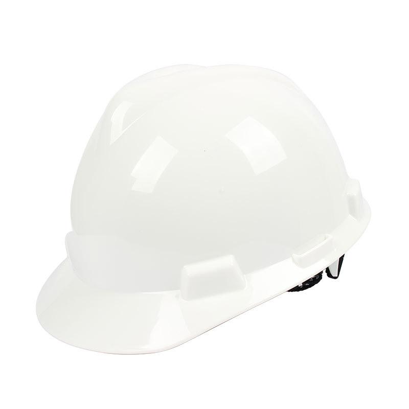 梅思安 9111818 PE标准型白色安全帽轻旋风帽衬针织布吸汗带D型下颌带