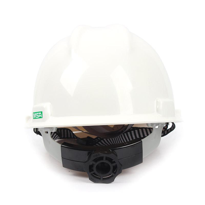 梅思安 9121418标准型ABS白色安全帽轻旋风帽衬针织布吸汗带D型下颌带