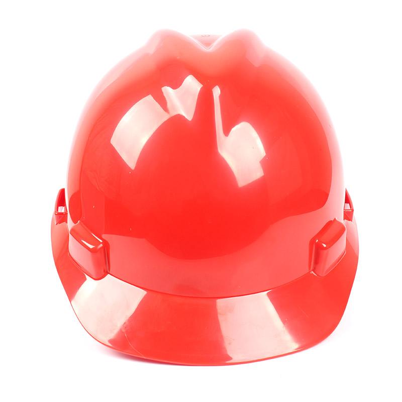 梅思安 9124418标准型ABS红色安全帽轻旋风帽衬针织布吸汗带D型下颌带