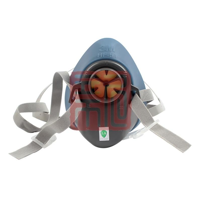 3M HF-51硅胶半面型防护面罩 (小/中号)封面