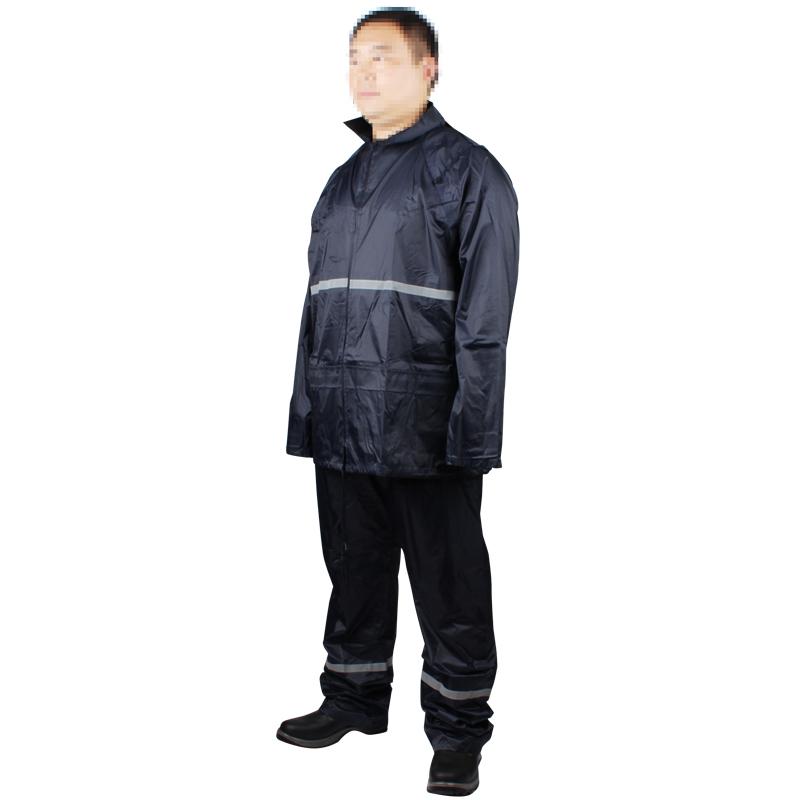 代尔塔407004 EN400RE(WCHEN400REMA)分体雨衣(带反光条) 藏青色