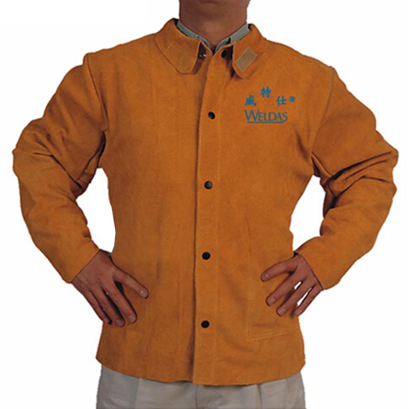 威特仕 44-2130金黄色皮上身焊服 S
