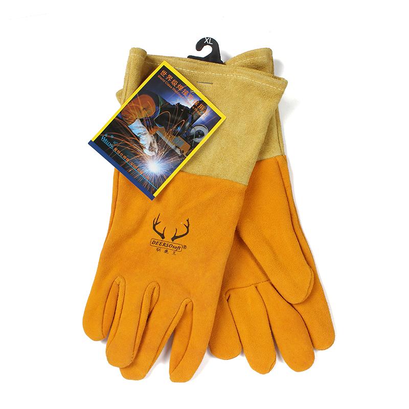 威特仕 10-2327 金黄色鹿二层皮中袖筒款