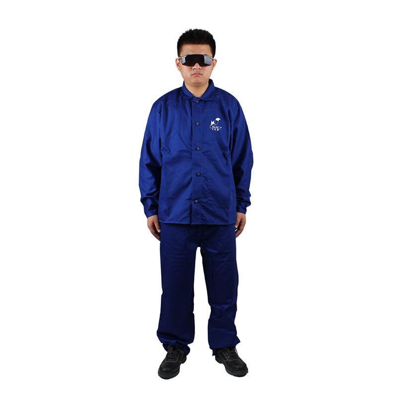 威特仕C33-6830蓝色电焊上衣76CM
