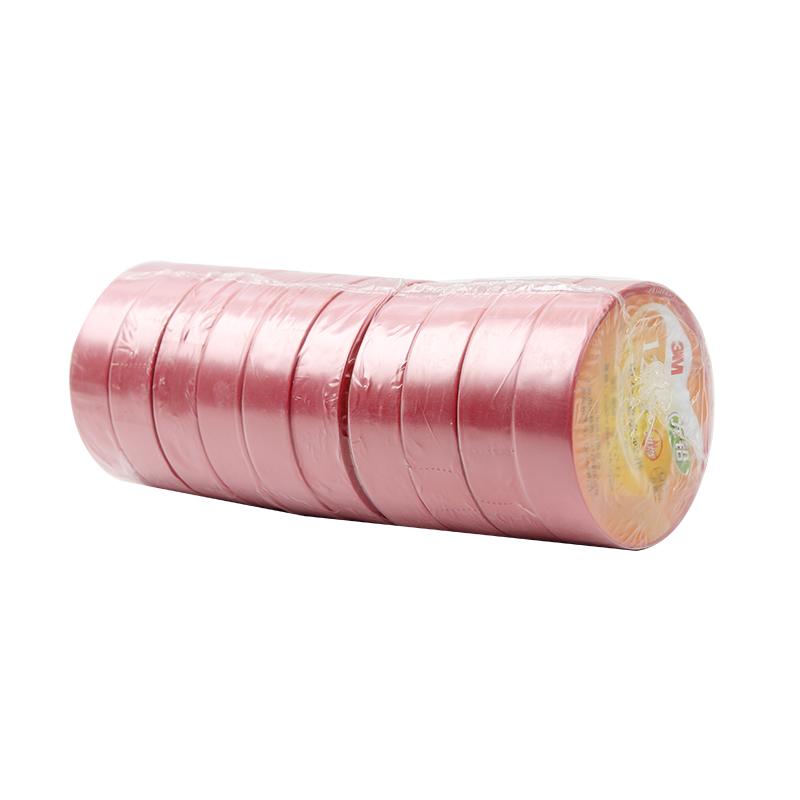 3M 1200绝缘胶带红色20米
