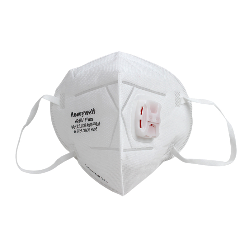 霍尼韦尔H1009101V H910V plus KN95 折叠式口罩带阀白色耳带式封面