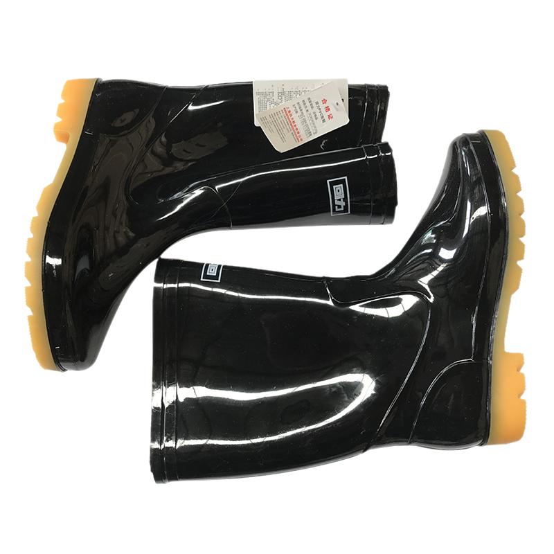 回力807中筒黑色雨靴 42