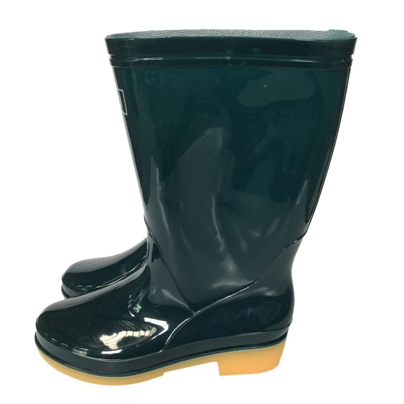 回力813女中筒墨绿色雨靴