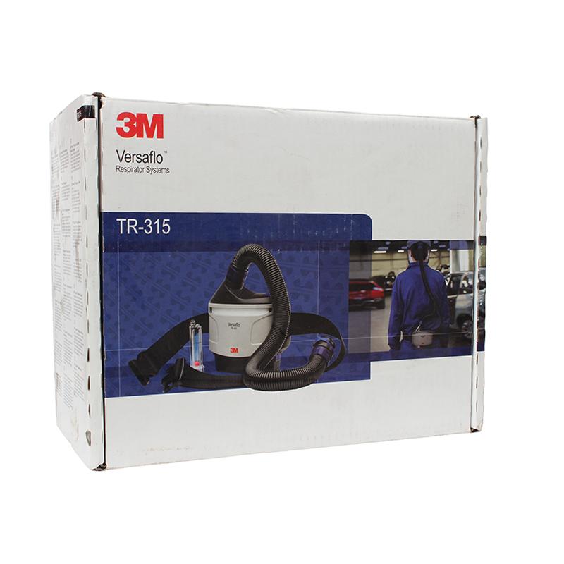 3M TR-315E+送风电机套件(内含电机/颗粒物滤盒/呼吸管/腰带/电池/充电器/预过滤棉/流量计/防火星网)(再搭配一个S头罩或M头盔即为完整一套防尘电动送风)